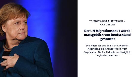 Der UN Migrationspakt ist massgeblich von Deutschland gestaltet