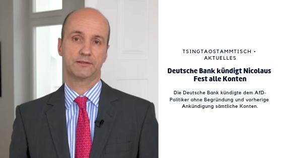 Deutsche Bank kündigt Nicolaus Fest alle Konten
